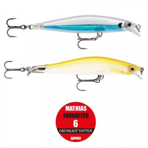 Rapala Mathias Favoriter 6 grumligt vatten 2-pack