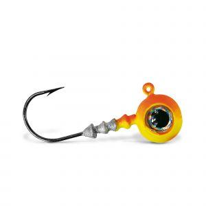 VMC Big Eye jiggskalle med krok orange 4-pack
