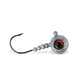 VMC Big Eye jiggskalle med krok silver 4-pack