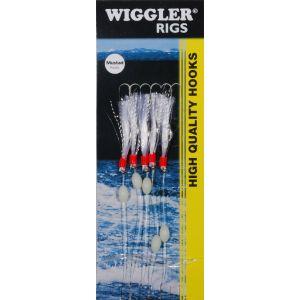 Wiggler Flasher Rig med 1/0 krok silver 5-pack