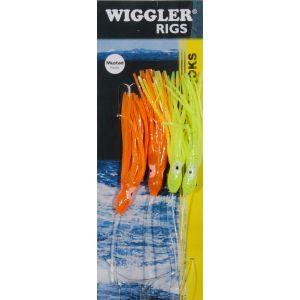 Wiggler Wrecking Rig med 5/0 krok röd/gul 4-pack