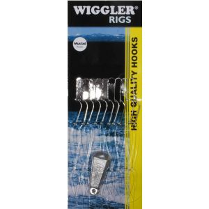 Wiggler Strömmingshäckla med 28 g sänke & 10 st 4 krokar