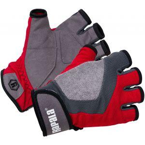 Rapala Performance kortfingerhandskar röd/grå