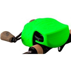 13 Fishing Skull Cap skydd för lågprofilrullar lime