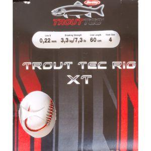 Berkley Trout Tec Rigs XT enkelkrok 4 med spiral för deg röd, 6-pack