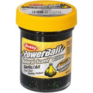 Berkley PowerBait Natural Glitter Trout Bait vitlök black 50 g
