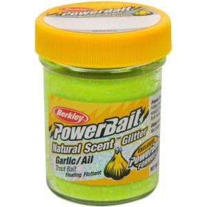 Berkley PowerBait Natural Glitter Trout Bait vitlök chartreuse 50 g