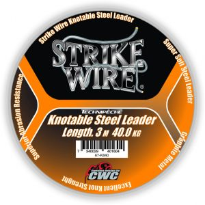 Strike Wire Leader tafsmaterial silver