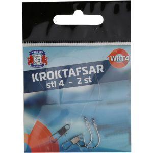 Wiggler kroktafs 0.28 mm x 12 cm med krok och Interlock beteslås 2-pack