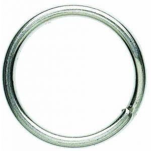 Okuma Splitring i smidd stål saltvattenresistent silver 10-pack