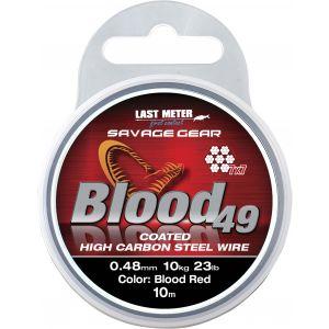 Savage Gear Blood 49 rostfri stålvajer röd