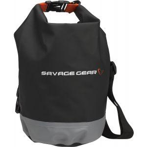 Savage Gear Rollup vattentät väska 5 l [ø16 x 25 cm] svart/grå