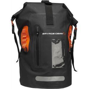 Savage Gear Rollup vattentät ryggsäck 40 l [28 x 26 x 44 cm] svart/orange