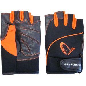 Savage Gear ProTec kortfingerhandskar svart/orange