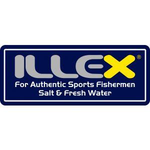 Illex klistermärke 150 x 58 mm blå/gul