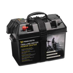 Minn Kota batterilåda med indikator för batteristatus