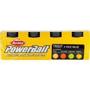 Berkley PowerBait Trout Bait blandade färger 4 x 50 g
