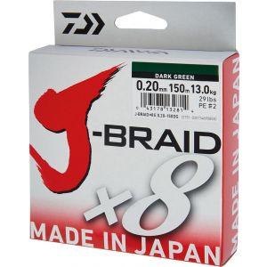 Daiwa J-Braid X8 flätlina mörkgrön
