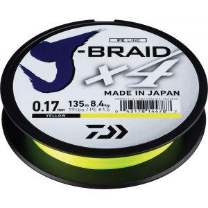 Daiwa J-Braid X4 flätlina gul