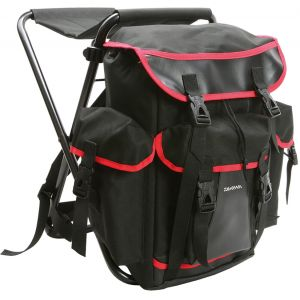 Daiwa XL stolryggsäck [67 x 33 x 8 cm] svart/röd