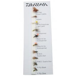 Daiwa River Dries flugor 10-pack