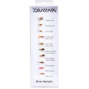 Daiwa River Nymphs flugor 10-pack