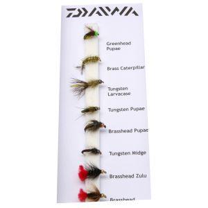 Daiwa Beadhead Nymphs flugor 8-pack