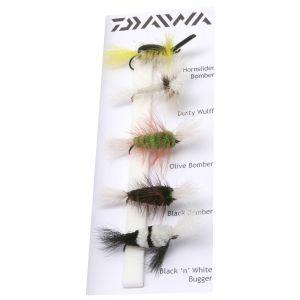 Daiwa Salmon & Trout Dry Flies flugor 5-pack