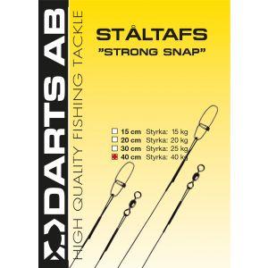 Darts Ståltafs med Strong Snap beteslås/lekande svart