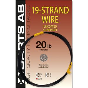 Darts 19-Strand Wire Uncoated Supersoft 20 lb brun 0.300 mm x 10 m