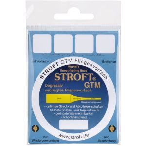 Stroft GTM flugfisketafs 12' clear 1-pack