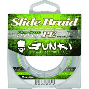 Gunki Slide Braid 125 flätlina hi-vis grön 0.130 mm x 125 m