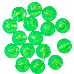 Gunki Carolina pärlor 6 x 6 mm grön 15-pack