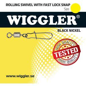 Wiggler Fast lock beteslås med Rolling lekande svart