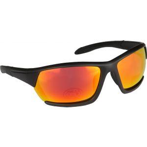 Hurricane Solid polariserade solglasögon svart med revo röd lins