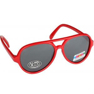 Hurricane Shiny barn polariserade solglasögon röd med spegelglas