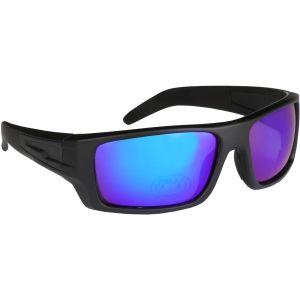 Hurricane Solid polariserade solglasögon med smal sidolins svart med revo blå lins