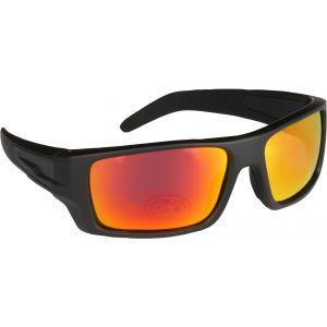 Hurricane Solid polariserade solglasögon med smal sidolins svart med revo röd lins