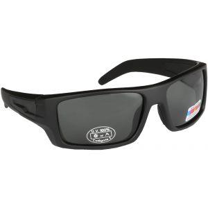 Hurricane Solid polariserade solglasögon med smal sidolins svart med grå lins