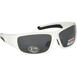 Hurricane Solid polariserade solglasögon vit med grå lins