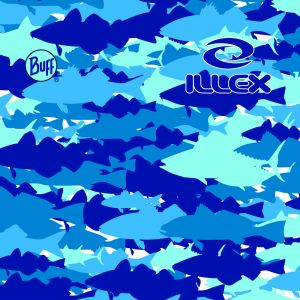 Illex Original Buff Saltwater blå camo one-size