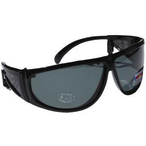 Hurricane Polariserade solglasögon med sidoskydd svart med grå lins