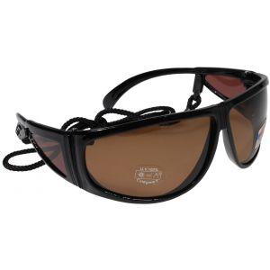 Hurricane Polariserade solglasögon med sidoskydd svart med brun lins
