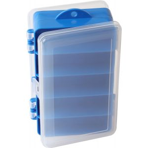 Wiggler dubbelsidig betesask [15.5 x 9.5 x 4.5 cm] klar/blå