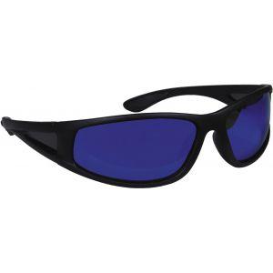 Hurricane Polariserade solglasögon med smal sidolins svart med blå lins