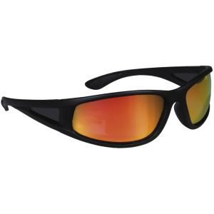 Hurricane Polariserade solglasögon med smal sidolins svart med röd lins