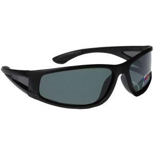 Hurricane Polariserade solglasögon med smal sidolins svart med grå lins