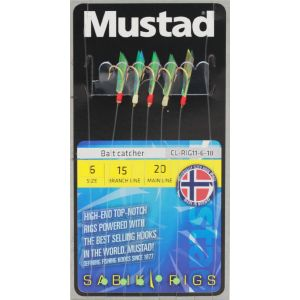 Mustad Bait Catcher Rig med 6 krok multi 5-pack