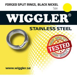 Wiggler splitring i rostfritt stål svart