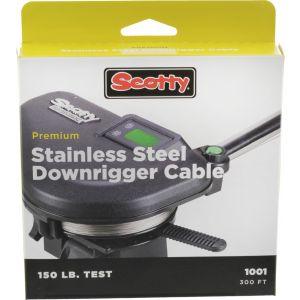 Scotty Premium rostfri stålvajer [1001] med 68 kg brottstyrka till djupriggar 91 m